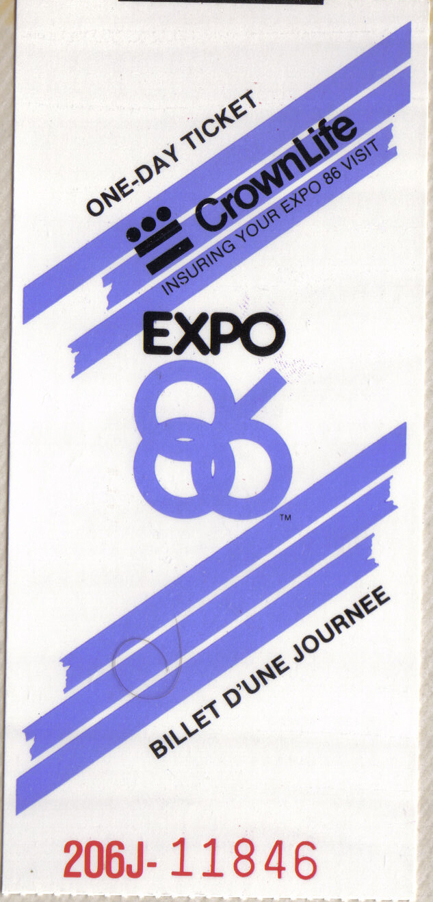 Expo 86 Ticket
