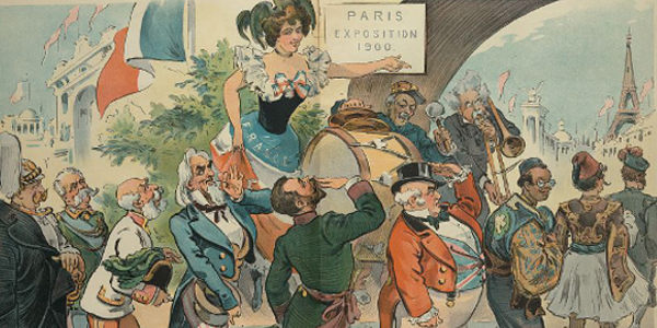 Paris Exposition 1900 Political Cartoon