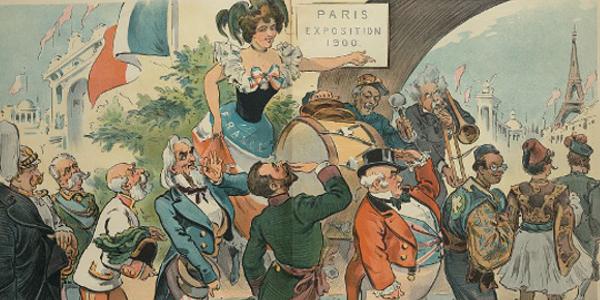 Paris Exposition 1900 Political Cartoon