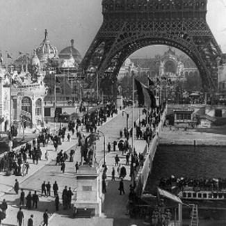Paris 1900 Leading to the Eiffel Tower