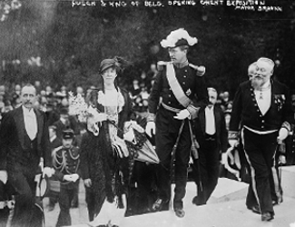 Opening Ceremony with King and Queen at Ghent 1913 World's Fair