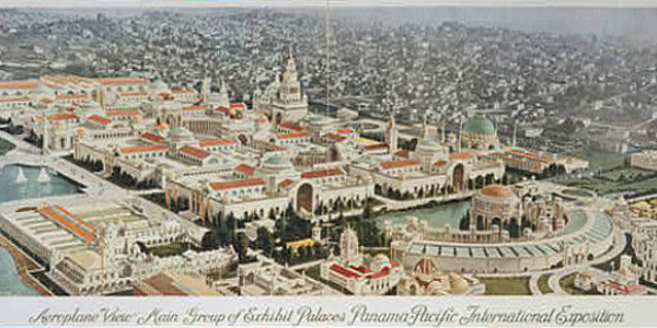 Aerial View of the San Francisco 1915 Exposition