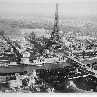 Paris 1889 Aerial Photo