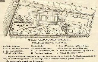 Map of the Cotton Centennial Expo 1884