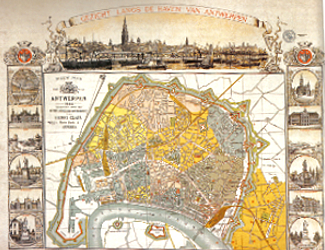 Map of Antwerp 1885