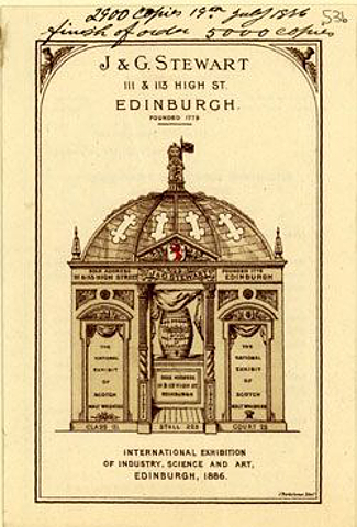 Edinburgh 1886 Advertising Card