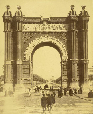 Trimphal Arch, Barcelona 1888 Exposition