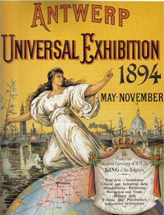 Antwerp World's Fair 1894 Poster