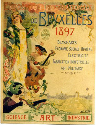 Brussels World's Fair 1897 Poster