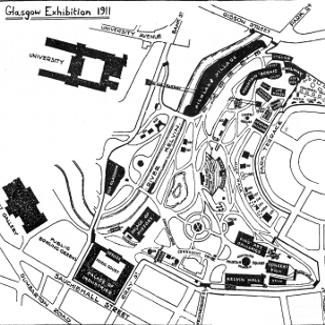 Map of the Glasgow 1911 Scottish Exhibition