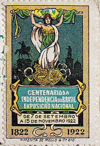 Postage stamp from the Independence Centenary International Exposition 1922-3