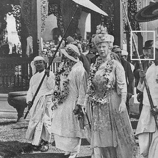 Queen Mary at the British Empire Exhibition