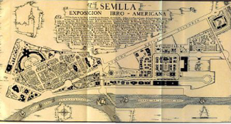 Seville 1929 Expo Map