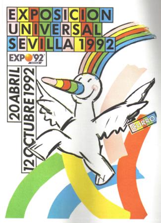 Expo 1992 Seville Mascot Poster