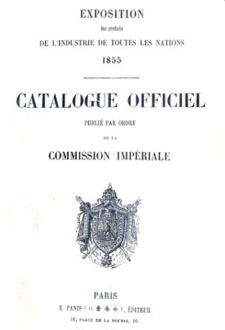 Paris World's Fair 1855 Catalogue