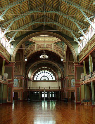 Interior of the Melbourne Exhibition Building