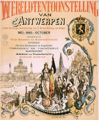 Antwerp World's Fair 1885 Poster