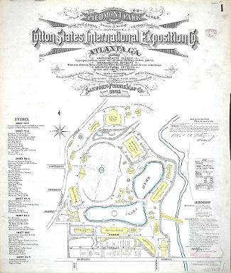 Cotton States and International Exposition Map