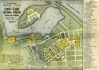 Portland Expo 1905 Official Map