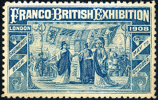 Souvenir Stamp from the 1908 Franco-British Exhibition