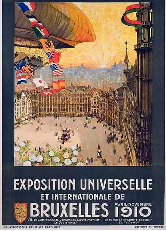 Brussels World's Fair 1910 Poster