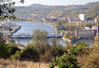 Liege Pont-barrage de Monsin Bridge