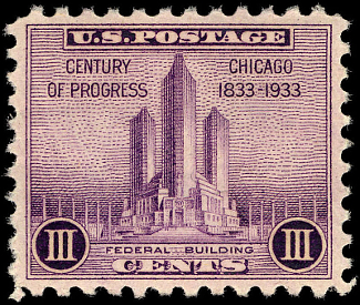 Official Stamp of Chicago 1933 World's Fair