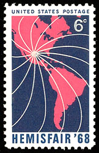 San Antonio World's Fair 1968 Postage Stamp