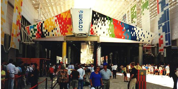 Entrance at Lisbon's Expo 1998