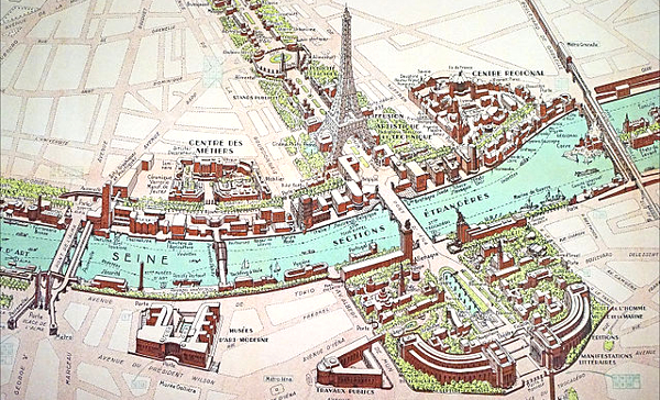 Paris World Expo 1937 Site Map